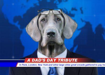 Dad's Day News Hound (Talking Card)
